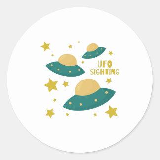 UFO Sighting Round Sticker