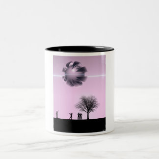 UFO Sighting Two-Tone Mug