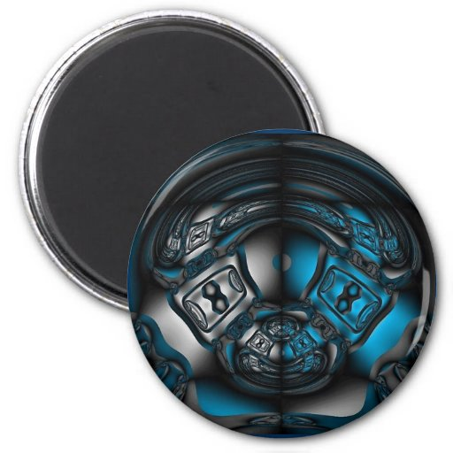 UFO Space Capsul Fractal Magnet