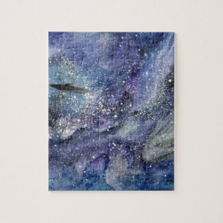 UFO spaceship in space Jigsaw Puzzle