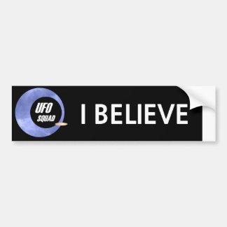 UFO Squad: I Believe Car Bumper Sticker