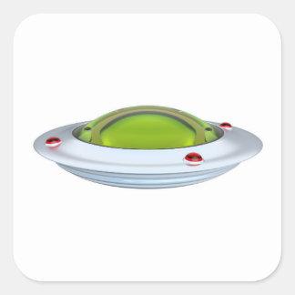 UFO SQUARE STICKER