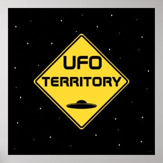 UFO territory Road Sign