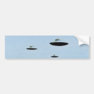 UFO Trio Bumper Sticker