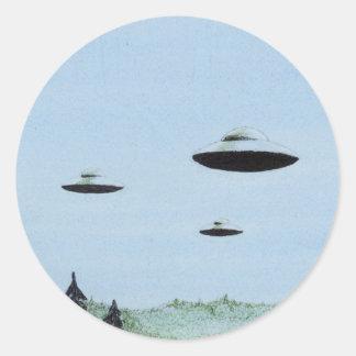 UFO Trio Classic Round Sticker