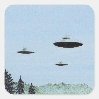 UFO Trio Square Sticker