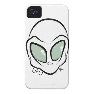 UFO White Galactic Martian Alien Head iPhone 4 Cover