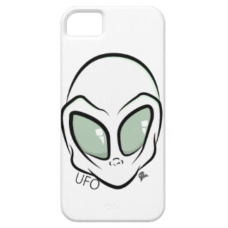 UFO White Galactic Martian Alien Head iPhone 5 Cases