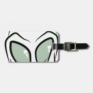 UFO White Galactic Martian Alien Head Luggage Tag