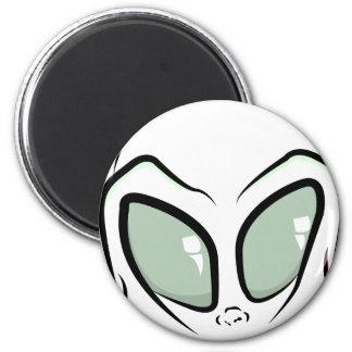 UFO White Galactic Martian Alien Head Magnet