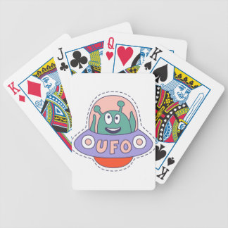 UFO With Alien Bicycle Playing Cards