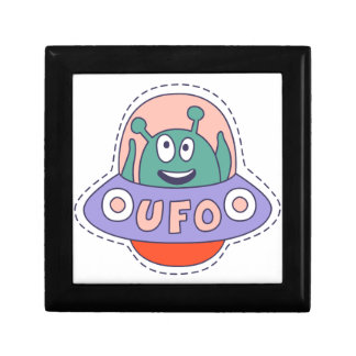 UFO With Alien Gift Box