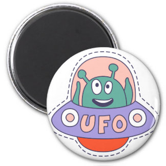 UFO With Alien Magnet