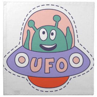 UFO With Alien Napkin