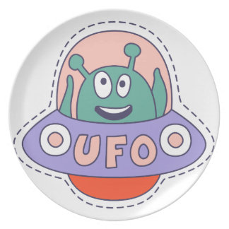 UFO With Alien Plate