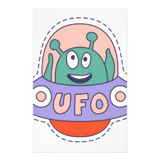 UFO With Alien Stationery