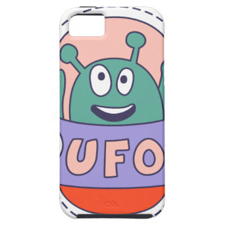 UFO With Alien Tough iPhone 5 Case