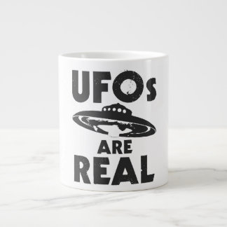 UFO'S ARE REAL LARGE COFFEE MUG
