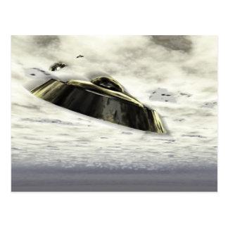UFOs in Flight Postcard