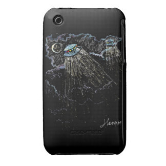 ufo's in the sky iPhone 3 Case-Mate cases