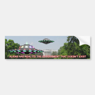 UFO's on the whitehouse Lawn Bumper Sticker