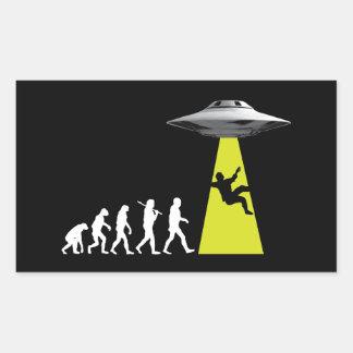 UFOvolution Rectangular Sticker