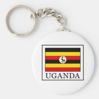 Uganda Basic Round Button Key Ring