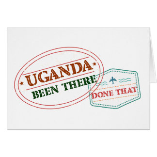 Uganda Been There Done That Card
