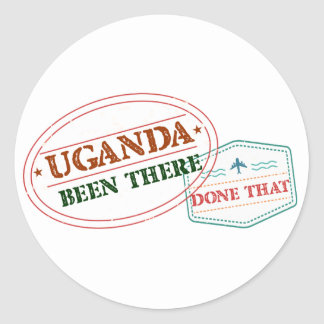 Uganda Been There Done That Classic Round Sticker