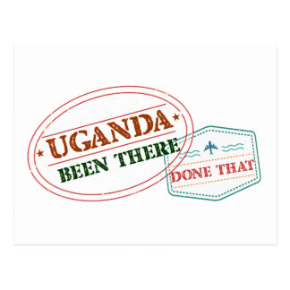 Uganda Been There Done That Postcard