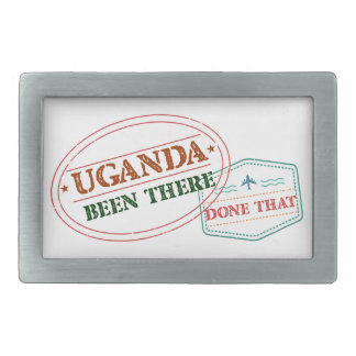 Uganda Been There Done That Rectangular Belt Buckle