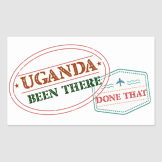 Uganda Been There Done That Rectangular Sticker