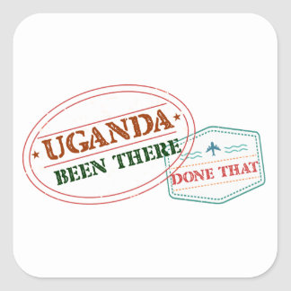 Uganda Been There Done That Square Sticker