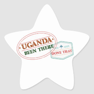 Uganda Been There Done That Star Sticker