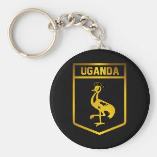 Uganda Emblem Key Ring