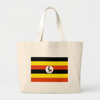 Uganda Flag Large Tote Bag