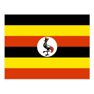 Uganda Flag Postcard