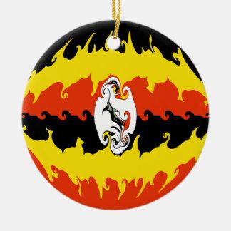 Uganda Gnarly Flag Ornaments