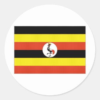 Uganda National Flag Classic Round Sticker