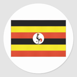 Uganda National Flag Round Sticker