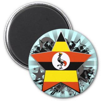 Uganda Star 6 Cm Round Magnet