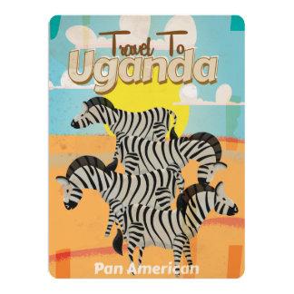 Uganda Vintage Travel Poster Custom Invitations
