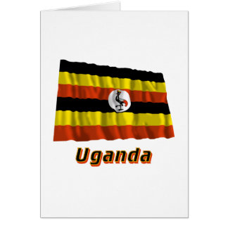 Uganda Waving Flag with Name Card