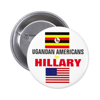 Ugandan Americans for Hillary 2016 6 Cm Round Badge