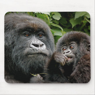Ugandan Mother & Baby Gorilla Mouse Pad