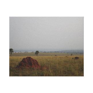 Ugandan Plains Canvas Stretched Canvas Print