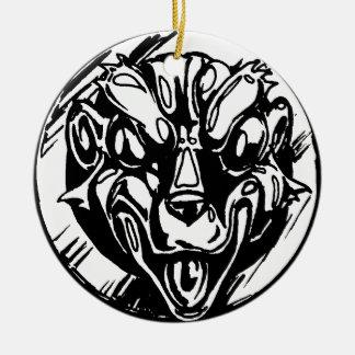 Ugly Amulet Ceramic Ornament