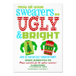Ugly and Bright Christmas Sweaters Party 13 Cm X 18 Cm Invitation Card