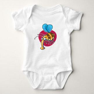 ugly bumble bee funny cartoon baby bodysuit