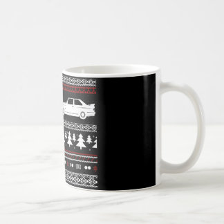 Ugly Christmas European Sports Car Mug